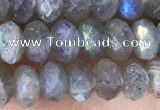 CLB1052 15.5 inches 4*6mm faceted rondelle labradorite gemstone beads