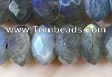 CLB1054 15.5 inches 6*10mm faceted rondelle labradorite gemstone beads