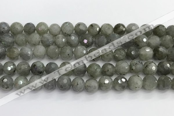 CLB1077 15.5 inches 10mm faceted round labradorite beads