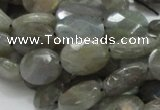 CLB11 16 inches 12*16mm faceted oval labradorite gemstone beads