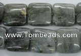 CLB117 15.5 inches 18*18mm square labradorite gemstone beads wholesale