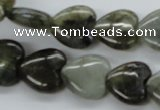 CLB130 15.5 inches 14*14mm heart labradorite gemstone beads wholesale