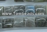 CLB132 15.5 inches 12*12mm square labradorite gemstone beads