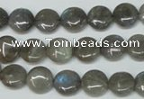 CLB149 15.5 inches 10mm flat round labradorite gemstone beads