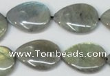 CLB159 15.5 inches 15*20mm flat teardrop labradorite gemstone beads