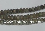 CLB178 15.5 inches 4*6mm faceted rondelle labradorite beads