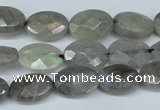CLB187 15.5 inches 10*14mm faceted oval labradorite beads