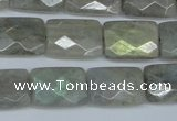 CLB197 15.5 inches 13*18mm faceted rectangle labradorite beads