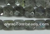 CLB200 15.5 inches 12*12mm faceted square labradorite beads