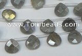 CLB203 Top-drilled 8*8mm briolette labradorite gemstone beads