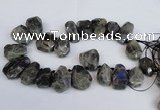 CLB224 Top drilled 25*30mm - 28*40mm faceted nuggets labradorite beads
