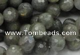 CLB23 15.5 inches 10mm faceted round labradorite gemstone beads
