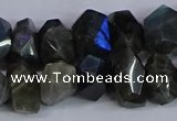 CLB232 15.5 inches 10*14mm - 13*18mm faceted nuggets labradorite beads