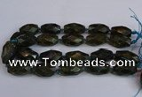 CLB235 15.5 inches 18*30mm - 20*30mm faceted rice labradorite beads