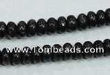 CLB301 15.5 inches 5*8mm rondelle black labradorite gemstone beads