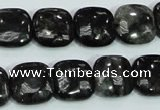 CLB307 15.5 inches 14*14mm square black labradorite gemstone beads