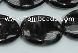 CLB313 15.5 inches 22*30mm oval black labradorite gemstone beads