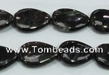 CLB316 15.5 inches 13*18mm flat teardrop black labradorite beads