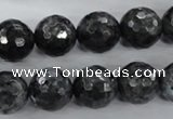 CLB363 15.5 inches 12mm faceted round black labradorite beads wholesale