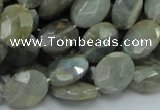 CLB42 15.5 inches 12*16mm faceted oval labradorite gemstone beads
