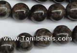 CLB435 15.5 inches 14mm round grey labradorite beads wholesale