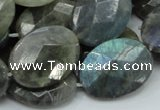 CLB45 15.5 inches 18*25mm faceted oval labradorite gemstone beads