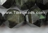 CLB457 15 inches 18mm faceted nuggets labradorite gemstone beads