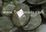 CLB46 15.5 inches 22*30mm faceted oval labradorite gemstone beads