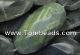 CLB48 15.5 inches 20*40mm faceted oval labradorite gemstone beads