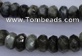 CLB55 15.5 inches 7*12mm faceted rondelle labradorite beads