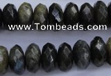 CLB56 15.5 inches 7*14mm faceted rondelle labradorite beads