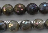 CLB614 15.5 inches 12mm faceted round AB-color labradorite beads