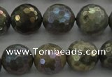 CLB615 15.5 inches 14mm faceted round AB-color labradorite beads