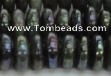 CLB621 15.5 inches 6*14mm rondelle AB-color labradorite beads