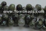 CLB631 15.5 inches 6*12mm bone AB-color labradorite beads