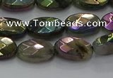 CLB658 15.5 inches 10*14mm faceted oval AB-color labradorite beads