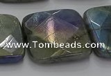 CLB692 15.5 inches 30mm faceted square AB-color labradorite beads