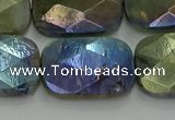 CLB707 15.5 inches 18*25mm faceted rectangle AB-color labradorite beads