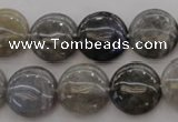 CLB736 15.5 inches 16mm flat round labradorite gemstone beads
