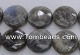 CLB744 15.5 inches 16mm faceted coin labradorite gemstone beads