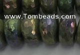CLB762 15.5 inches 10*18mm faceted rondelle AB-color labradorite beads