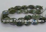 CLB768 15.5 inches 20*25mm - 22*30mm faceted freeform labradorite beads