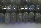 CLB774 15.5 inches 6*10mm faceted rondelle labradorite beads