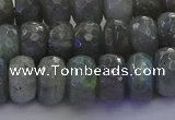 CLB775 15.5 inches 7*12mm faceted rondelle labradorite beads