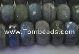 CLB776 15.5 inches 8*14mm faceted rondelle labradorite beads