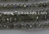 CLB795 15.5 inches 2*3mm faceted rondelle labradorite beads