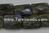 CLB963 15.5 inches 15*20mm faceted rectangle labradorite beads