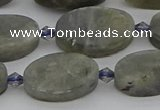 CLB977 15.5 inches 12*20mm oval labradorite gemstone beads