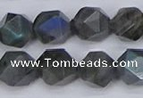 CLB989 15.5 inches 12mm faceted nuggets labradorite beads wholesale