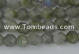 CLB992 15.5 inches 6mm faceted nuggets labradorite gemstone beads